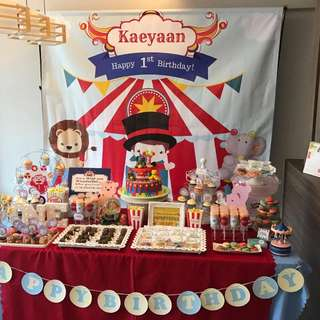 Carnival Theme Customised Candy Buffet Dessert Table