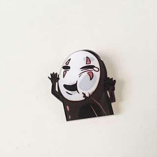 No Face Acrylic Pin