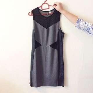 BNWOT H&M Divided Bodycon Mesh Dress