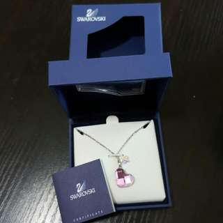 swarovski 心形水晶頸鏈 necklace