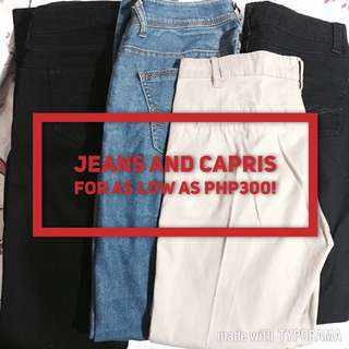 SALE! Jeans And Capris