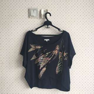 COLORBOX CROPPED TOP (semi off-shoulder)