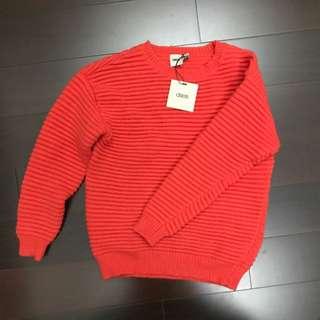 ASOS 橘紅色毛衣