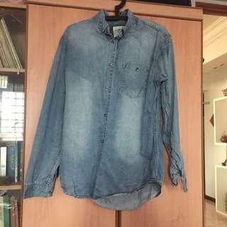 Jeans Material Longsleeve T-Shirt