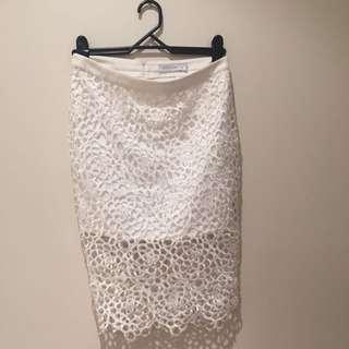 White - White closet Size 10 Skirt