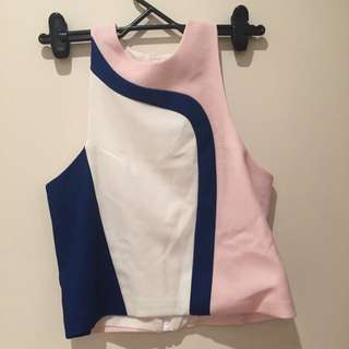By Johnny Pink Blue & White Size 8 Top