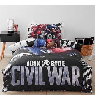 Captain America Bed Covers Queen
