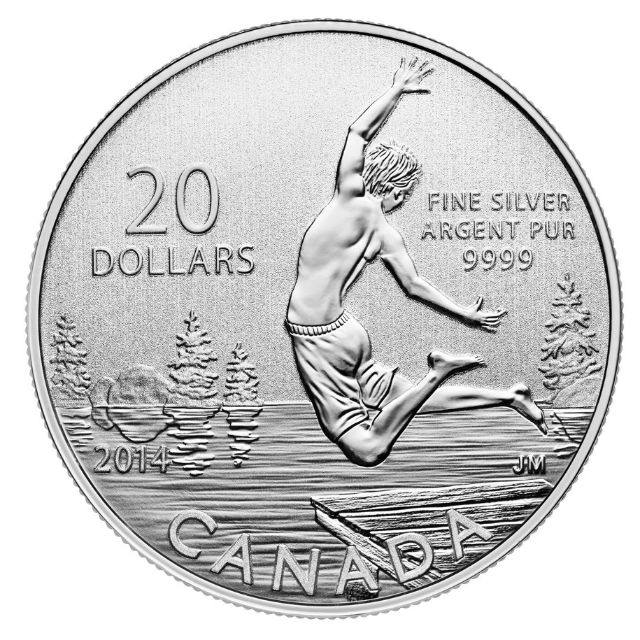 $20 Fine Silver Coin - Summertime Fun (2014)
