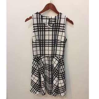 Cavalier White-Black Dress