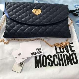 Love Moschino 深藍金鍊袋 Clutch Bag