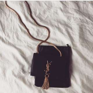 YSL Classic Small Monogram Tassle Bag (Smooth Leather, AUTHENTIC)