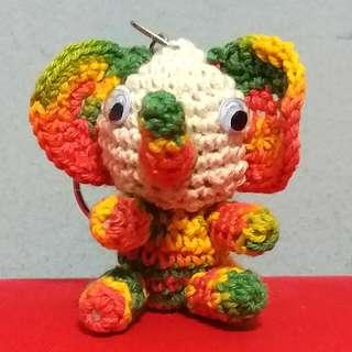 Cute Knitted Elephant Key Chain (Brand New)