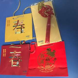 CNY Mandarin Orange Carrier Bags - 🍊CapitaLand And Others