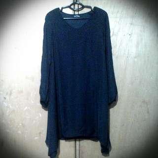 Zalora Black Slit - Sleeve Dress