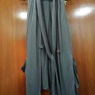Grey Sleeveless Outerwear