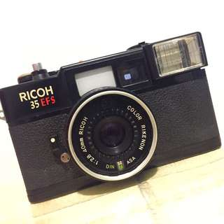 Ricoh 35EFS 菲林相機from Taiwan Film Camera Flash Not Work (故障)
