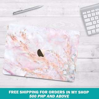 MACBOOK Marble Cover Rose Gold
