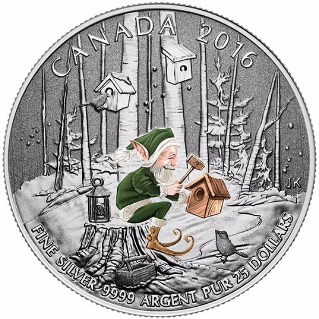 $25 Fine Silver Coin - Woodland Elf (2016)