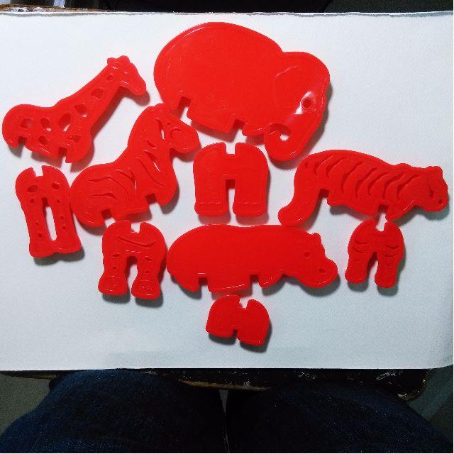 3D 動物餅乾壓膜 (內含五種動物造型)