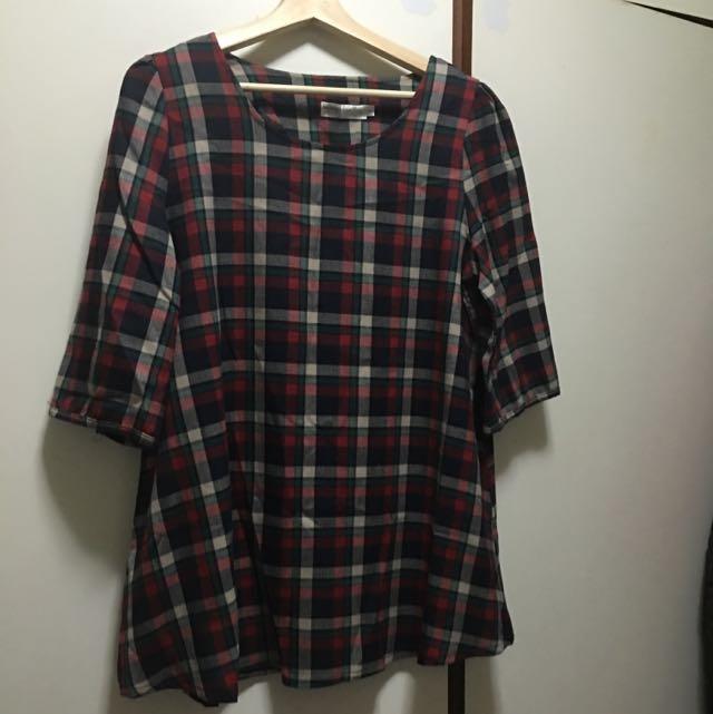 長版7分袖上衣
