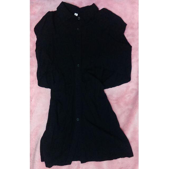 黑色造型長版上衣