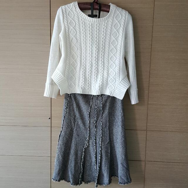 毛料裙(不含上衣)
