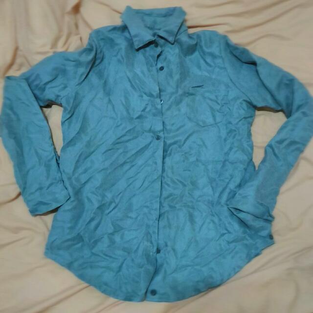 湖水綠襯衫/上衣