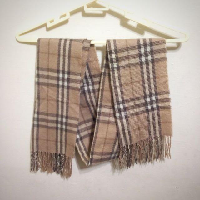 小香風格紋圍巾