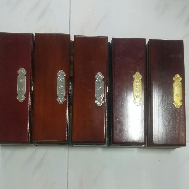 风云 - 七武器珍藏系列 - 五刀剑 (天罪, 英雄剑, 雪饮, 绝世好剑, 惊寂) (Feng Yun)
