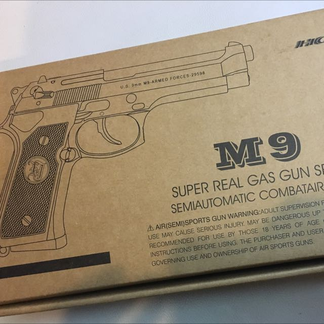 立智 KJ M9 玩具手槍 瓦斯槍 空氣槍 Bb槍  生存遊戲 Toy Gun Gas Gun 玩具槍  台灣製造 二手9.9新