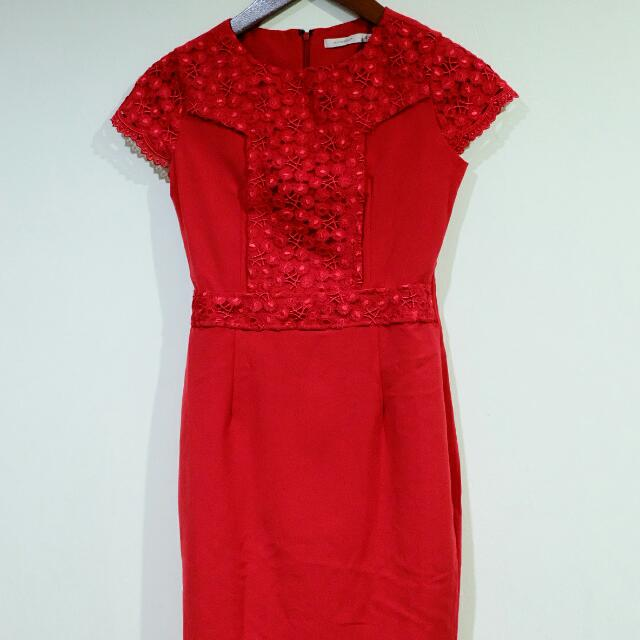 ACCENT Red Dress for IMLEK