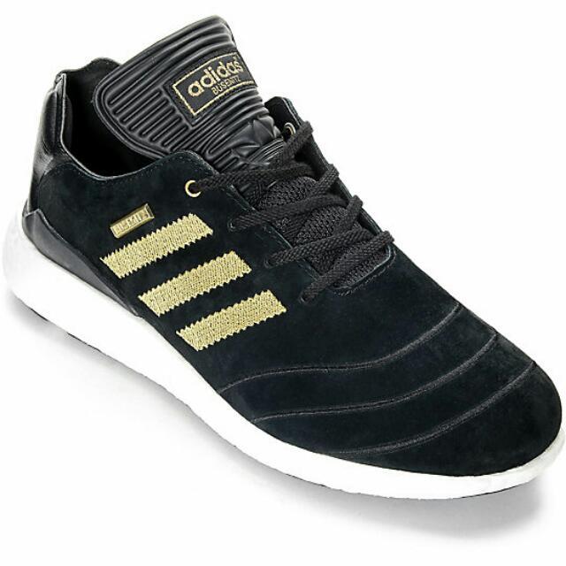 6153ad62bf265 adidas Busenitz Boost 10 Year Anniversary Black   Gold Shoes ...