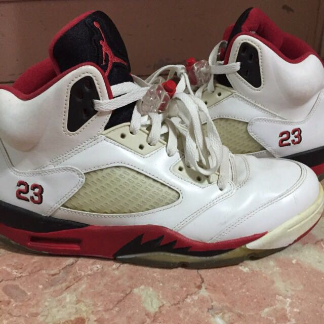 the best attitude 32611 bc264 Aj5 Fire Red
