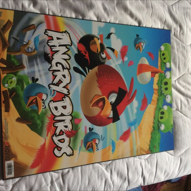 Angry Birds framed poster