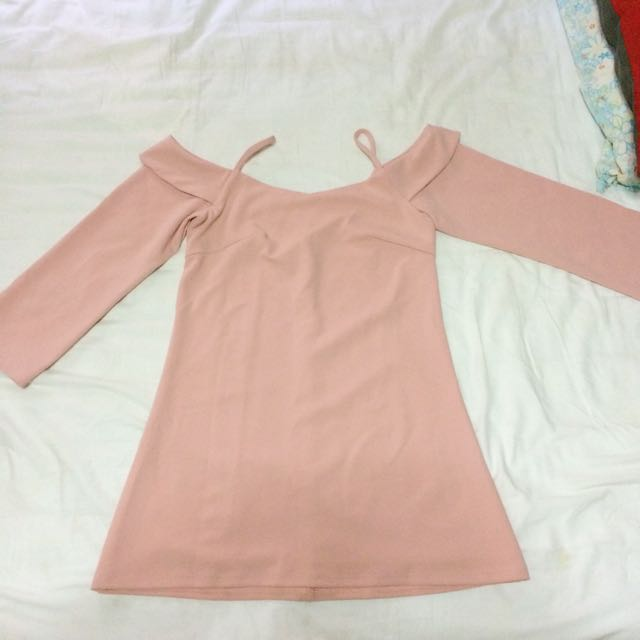 Apartment8 Clothing Pink Off Shoulder Dress