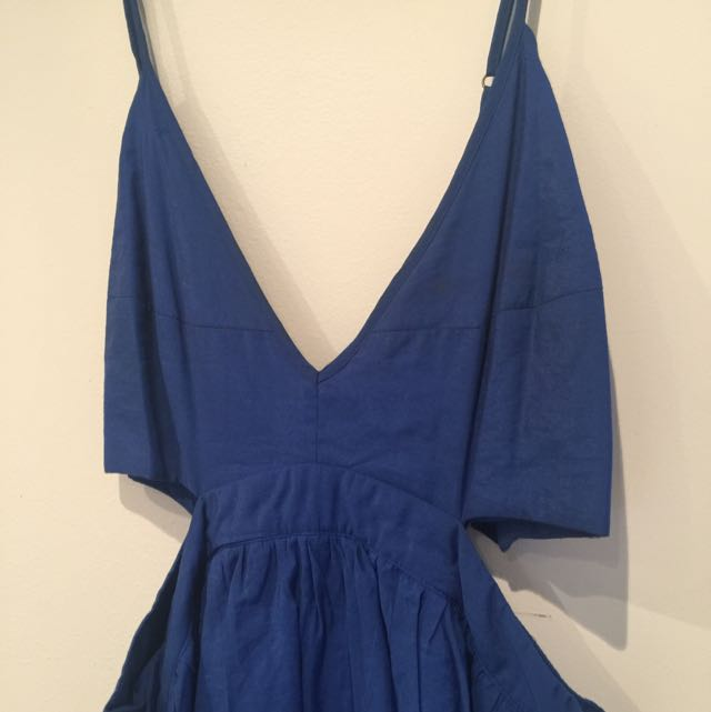 Bardot 12 Blue Cut Out Dress