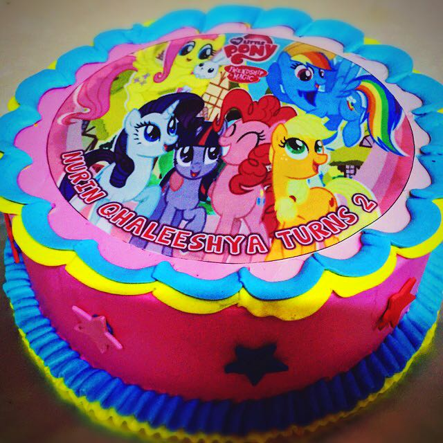 Astounding Birthday Cakes My Little Pony Food Drinks Baked Goods On Funny Birthday Cards Online Ioscodamsfinfo