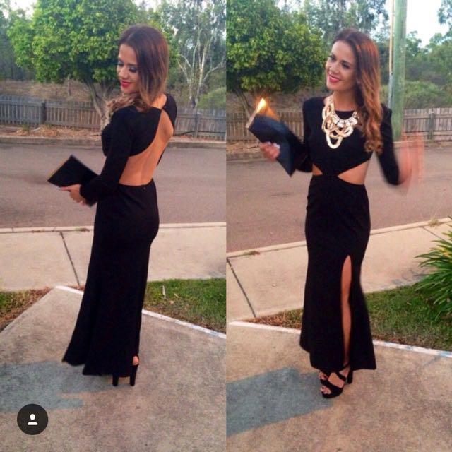 Black Cut Out Formal Dress