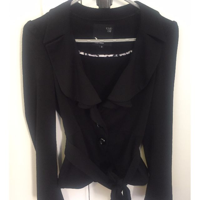 Black fitted blazer (size S)
