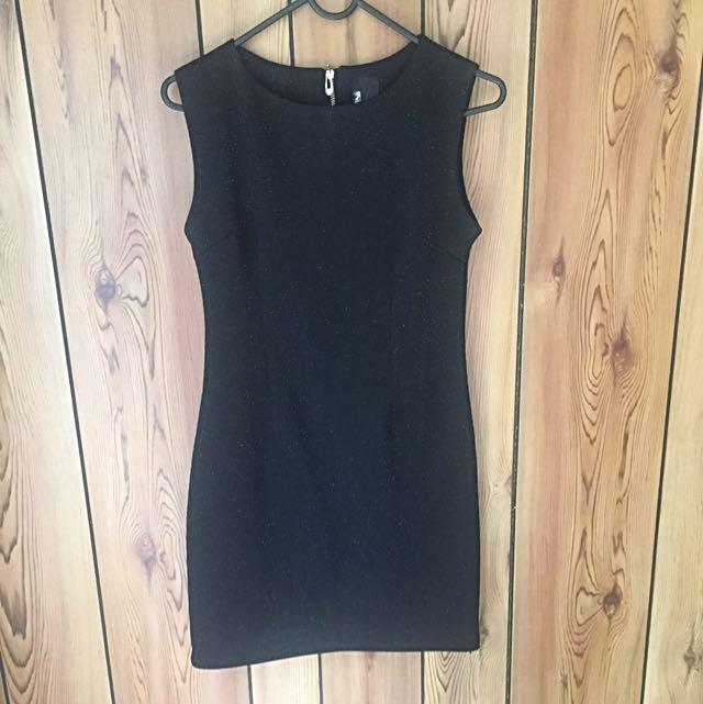 Black Shimmer Dress