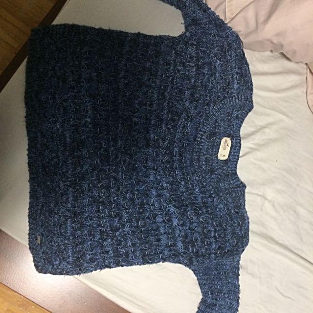 Blue Knit Hollister Sweater