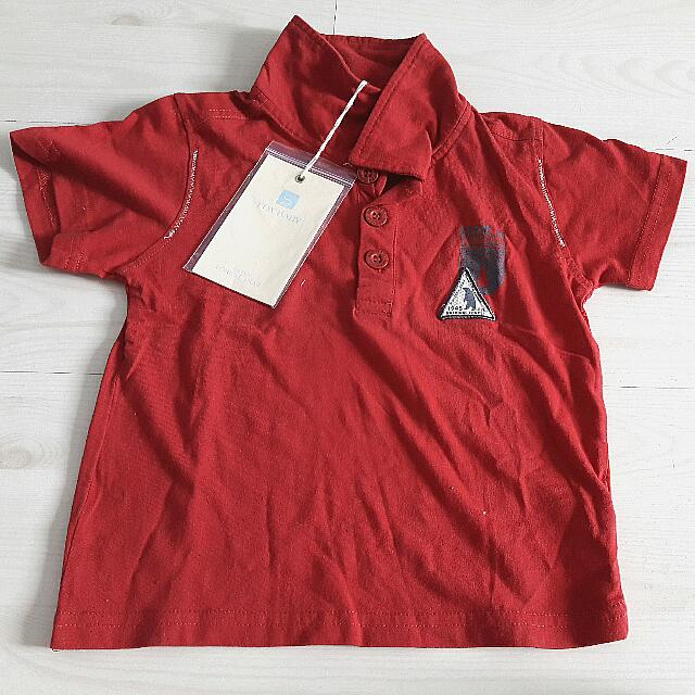 50f6606d8b Brand New Fox Baby Red Short Sleeve Polo T-shirt For Boys (Size 2)