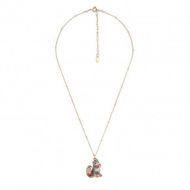 Brand New Les Nereides Maine Coon Kitty Necklace