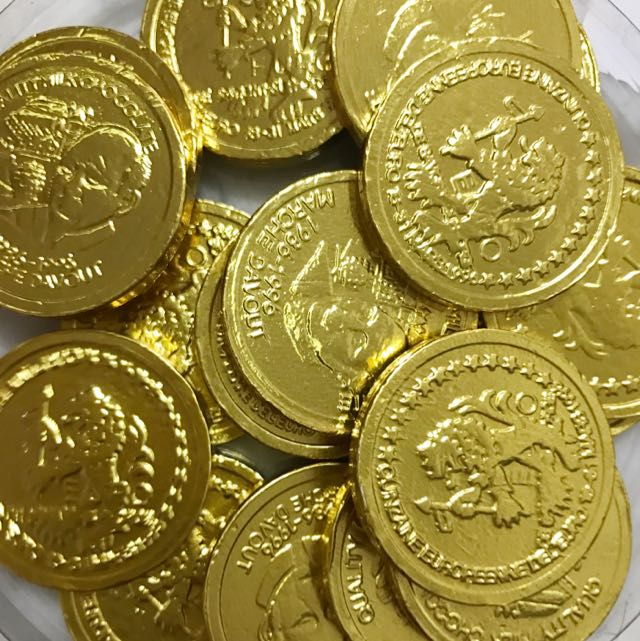 Cny Gold Coins Chocolates, Food & Drinks, Packaged Snacks on Carousell