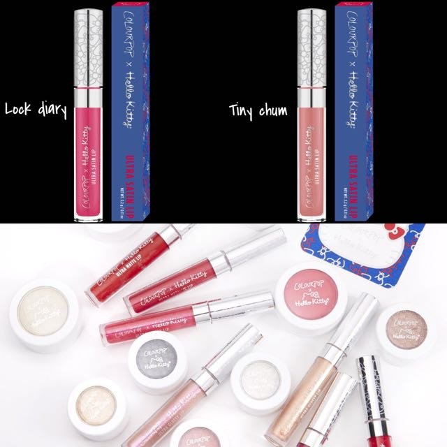 💄Colourpop Hello Kitty Collection Ultra Matte Lip 💎Look Diary💎Tiny ch