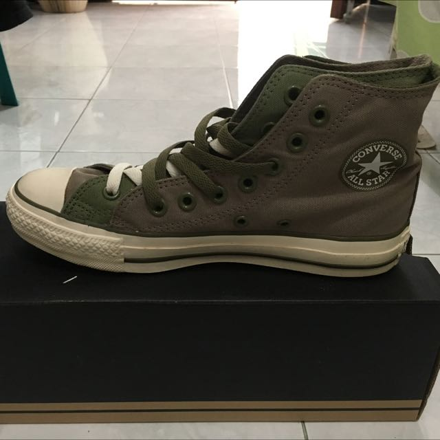 Converse Double Upper Hi - Green Taupe