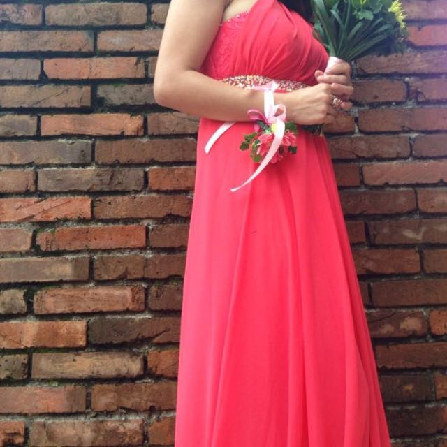 Coral Pink Infinity Gown