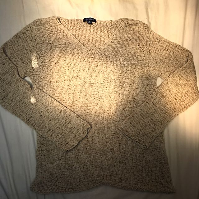 Cream Knit Sweater- Size S-M