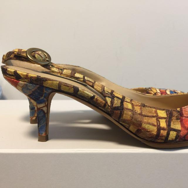 f056d61d974 Dolce Gabbana Kitten Heel Sling Back
