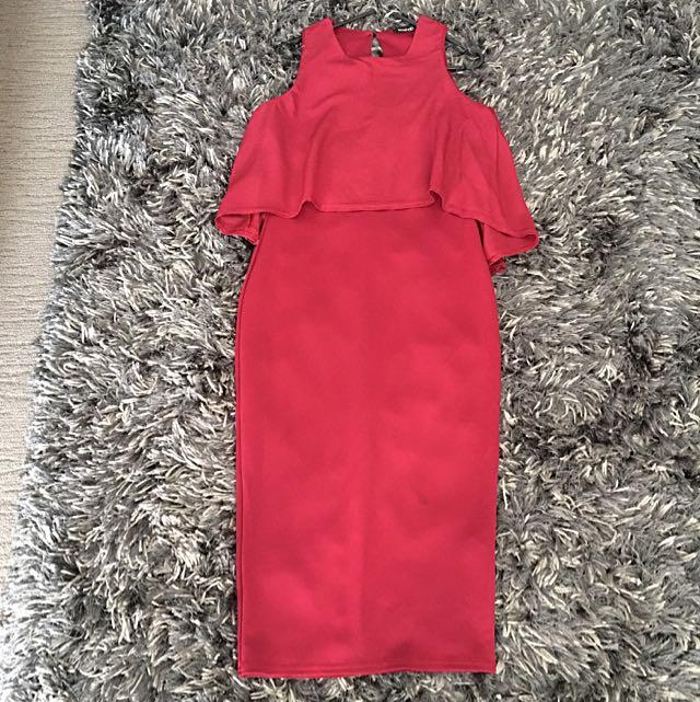 Elegant Maroon Dress Sz10